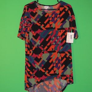 LuLaRoe Womens XXS Irma Geometric T Shirt NEW